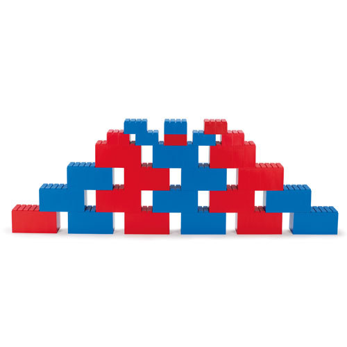 Dantoy Riesenbausteine rot + blau, 26 Stück