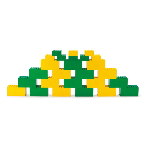 Dantoy Riesenbausteine grün + gelb 26 Stück