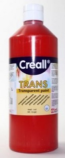 Transparentfarbe Creall-trans 500 ml rot
