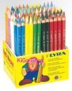 Holz-Aufsteller mit 96 Lyra Farb-Riesen Buntstifte lack