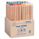 LYRA Super FERBY Holz-Aufsteller 96 Buntstiften natur 3712960