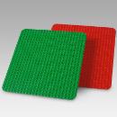 Große Bauplatten, LEGO® DUPLO® 1xrot 1x grün