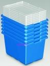 LEGO Box, blau, Jumbo, mit Deckel 6er-Pack  Aufbewahrungsboxen # 9840