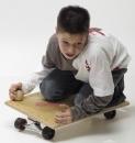 Holz-Hoerz Pedalo Rollbrett mit Skatefahrwerk
