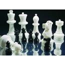 Schachfigur Bauer gross weiss