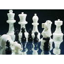 Schachfigur Dame gross schwarz