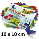 Faltblätter aus Transparentpapier 10x10cm 500 Blatt