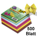 Faltblätter 10x10cm in 10 Farben sortiert 70 g/m² 500 Blatt