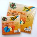 Faltblätter aus Alufolie, farbig sortiert 10x10cm, 50 Blatt