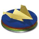 Faltblätter aus Alufolie rund, 12cm, farbig sortiert, 50 Blatt
